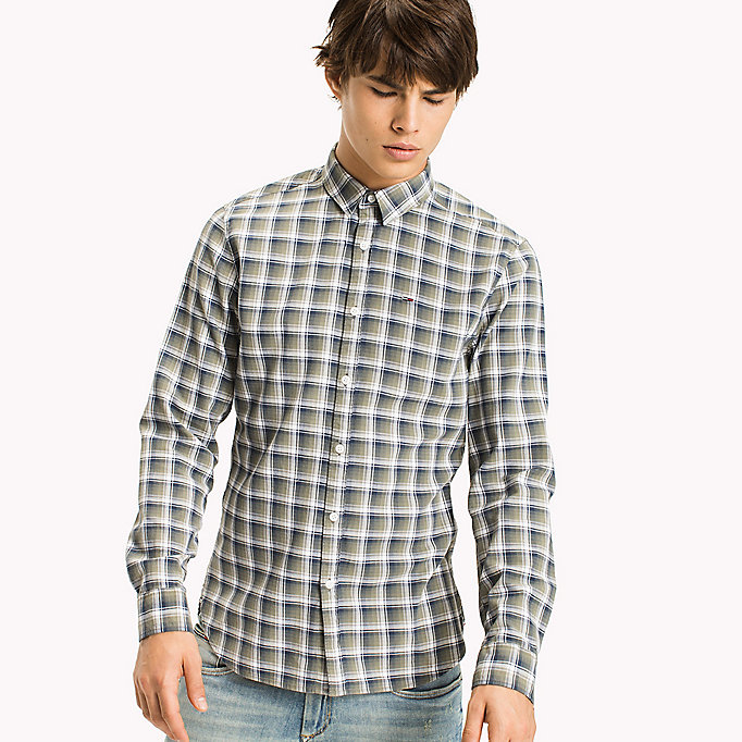 TOMMY JEANS Slim Fit Check Shirt - NAUTICAL BLUE - TOMMY JEANS Clothing - main image