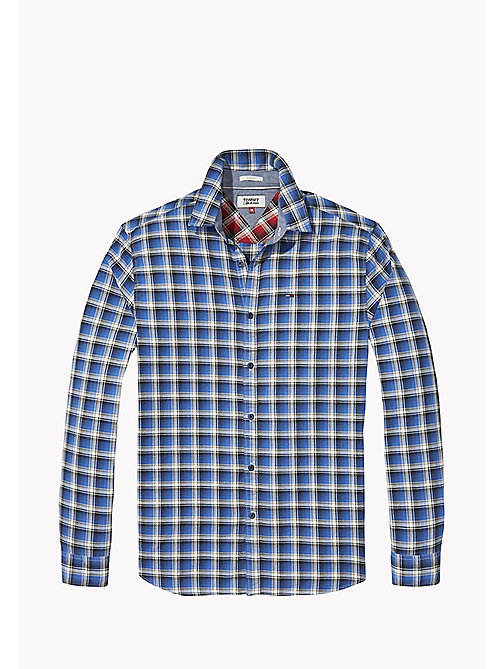 TOMMY JEANS Slim Fit Check Shirt - NAUTICAL BLUE - TOMMY JEANS Shirts - detail image 1