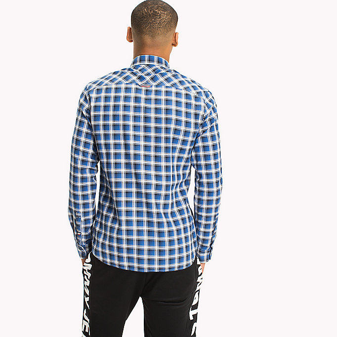TOMMY JEANS Slim Fit Check Shirt - MAUI BLUE - TOMMY JEANS Clothing - detail image 2