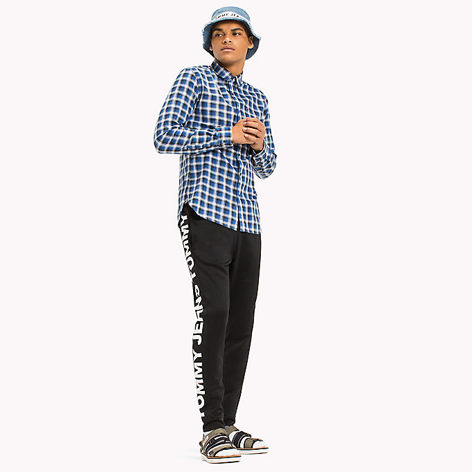TOMMY JEANS Slim Fit Check Shirt - MAUI BLUE - TOMMY JEANS Men - main image