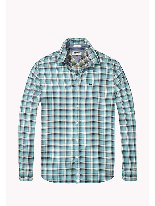 TOMMY JEANS Slim Fit Check Shirt - MAUI BLUE - TOMMY JEANS Shirts - detail image 1