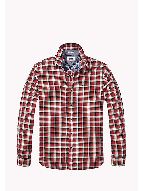 TOMMY JEANS Slim Fit Check Shirt - RACING RED - TOMMY JEANS MEN - detail image 1