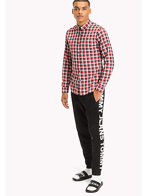 TOMMY JEANS Slim Fit Check Shirt - RACING RED - TOMMY JEANS Shirts - main image