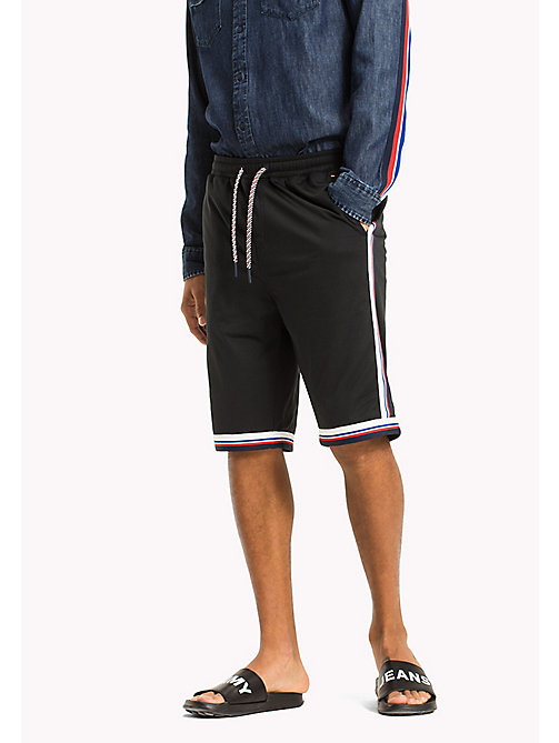 TOMMY JEANS Jersey Basketball Shorts - TOMMY BLACK - TOMMY JEANS Festival Season - main image