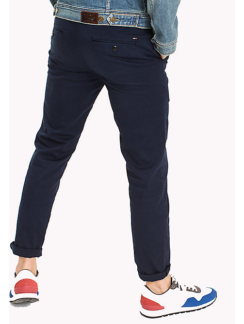 TOMMY JEANS Fitted Straight Leg Chinos - BLACK IRIS - TOMMY JEANS Trousers & Shorts - detail image 1
