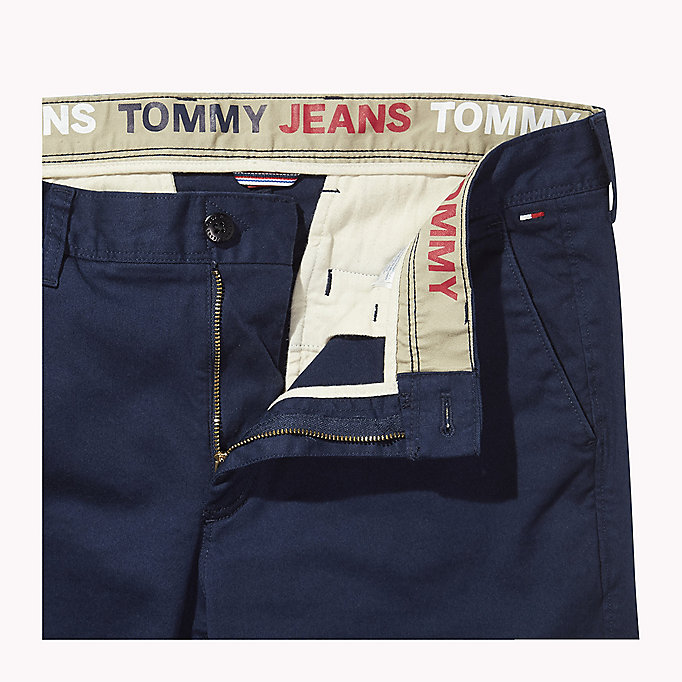 TOMMY JEANS Fitted Straight Leg Chinos - TOMMY BLACK - TOMMY JEANS Men - detail image 4