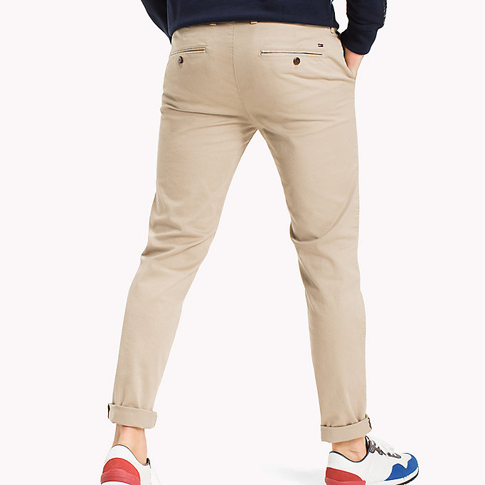 TOMMY JEANS Fitted Straight Leg Chinos - BLACK IRIS - TOMMY JEANS Men - detail image 1