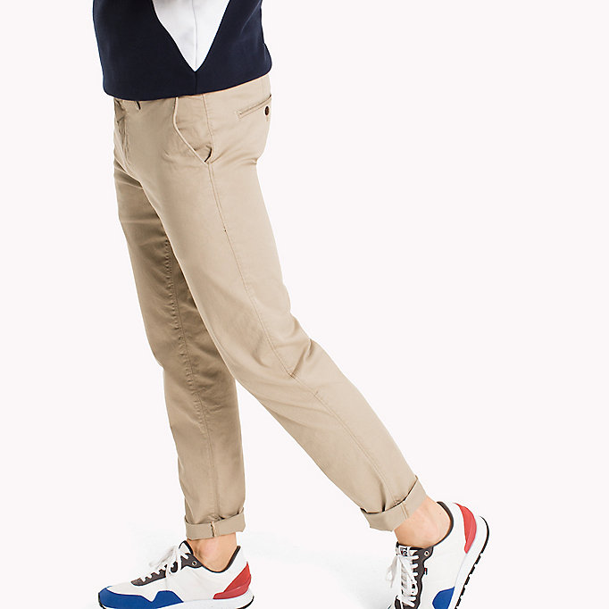 TOMMY JEANS Fitted Straight Leg Chinos - BLACK IRIS - TOMMY JEANS Men - detail image 2