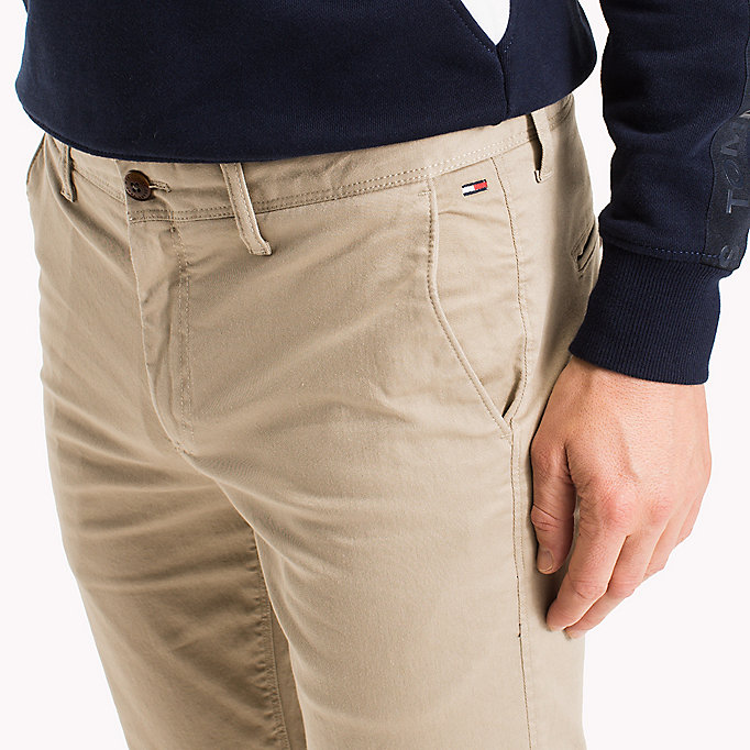 TOMMY JEANS Fitted Straight Leg Chinos - BLACK IRIS - TOMMY JEANS Men - detail image 3
