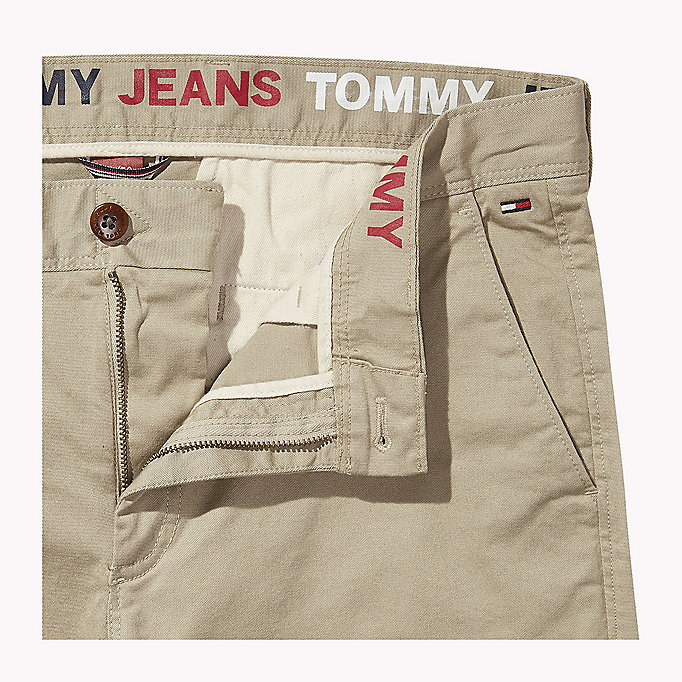 TOMMY JEANS Fitted Straight Leg Chinos - BLACK IRIS - TOMMY JEANS Men - detail image 4