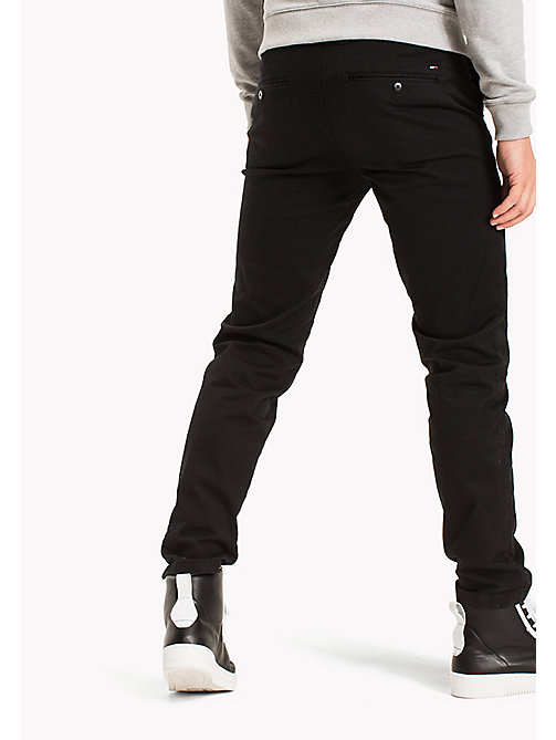 TOMMY JEANS Fitted Straight Leg Chinos - TOMMY BLACK - TOMMY JEANS Clothing - detail image 1
