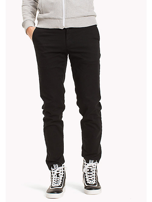 TOMMY JEANS Fitted Straight Leg Chinos - TOMMY BLACK - TOMMY JEANS Clothing - main image