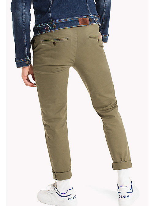 TOMMY JEANS Fitted Straight Leg Chinos - DEEP LICHEN - TOMMY JEANS Trousers & Shorts - detail image 1