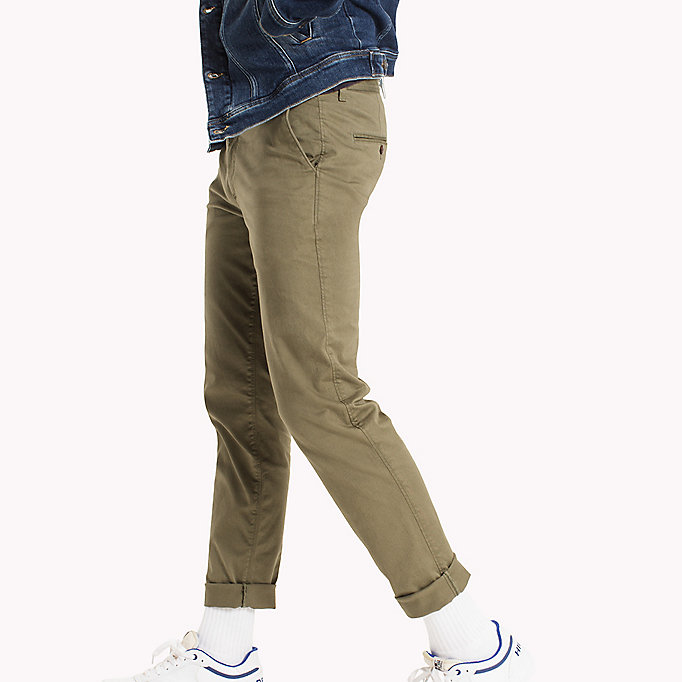 TOMMY JEANS Fitted Straight Leg Chinos - PLAZA TAUPE - TOMMY JEANS Men - detail image 2