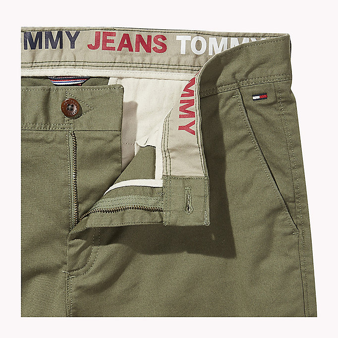 TOMMY JEANS Fitted Straight Leg Chinos - PLAZA TAUPE - TOMMY JEANS Men - detail image 4
