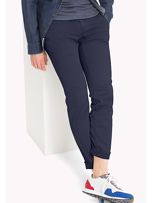TOMMY JEANS Twill Slim Fit Chinos - BLACK IRIS - TOMMY JEANS Chinos - main image