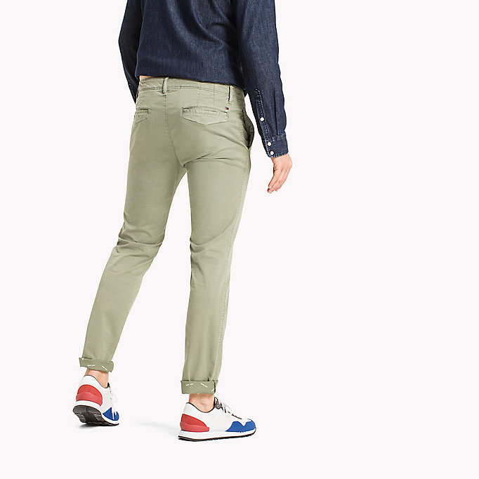 TOMMY JEANS Twill Slim Fit Chinos - PLAZA TAUPE - TOMMY JEANS Men - detail image 1