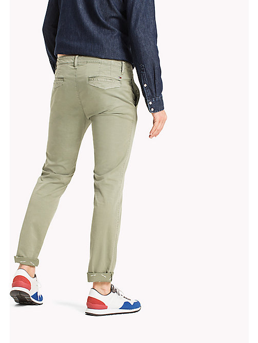 TOMMY JEANS Twill Slim Fit Chinos - DEEP LICHEN - TOMMY JEANS MEN - detail image 1