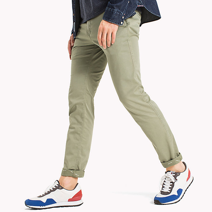 TOMMY JEANS Twill Slim Fit Chinos - PLAZA TAUPE - TOMMY JEANS Men - detail image 2