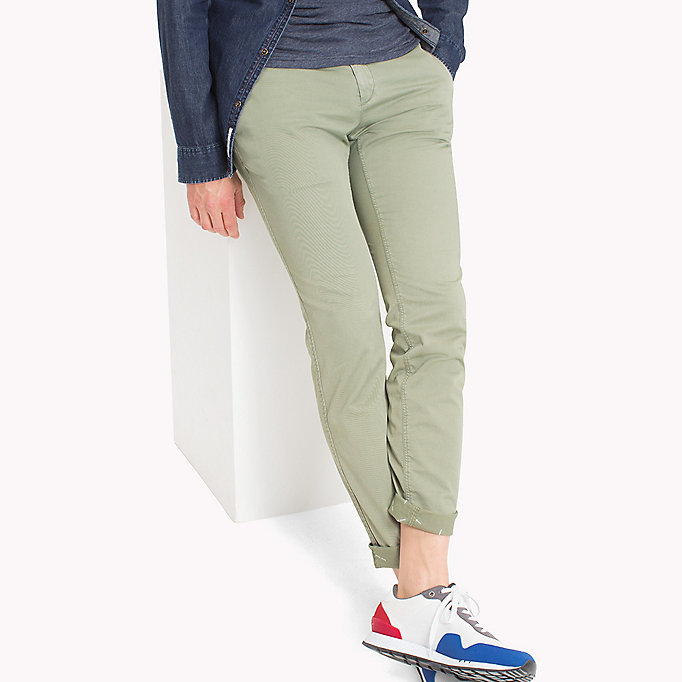 TOMMY JEANS Twill Slim Fit Chinos - PLAZA TAUPE - TOMMY JEANS Men - main image