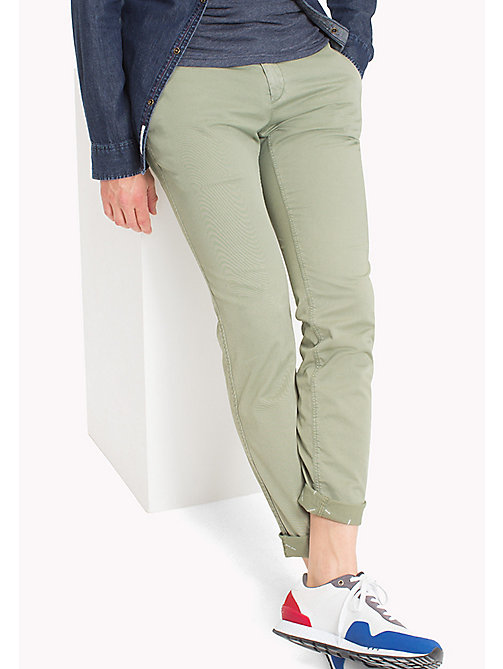 TOMMY JEANS Twill Slim Fit Chinos - DEEP LICHEN - TOMMY JEANS Trousers & Shorts - main image