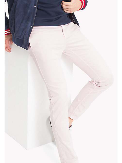 TOMMY JEANS Twill Slim Fit Chinos - VIOLET ICE - TOMMY JEANS Trousers & Shorts - main image