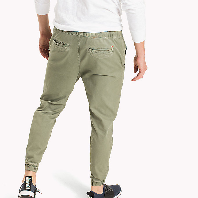 TOMMY JEANS Cotton Stretch Jog Chinos - BLACK IRIS - TOMMY JEANS Men - detail image 1