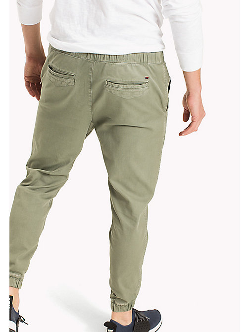 TOMMY JEANS Cotton Stretch Jog Chinos - DEEP LICHEN - TOMMY JEANS Vacation Style - detail image 1