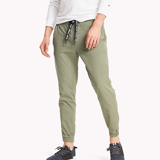 TOMMY JEANS Cotton Stretch Jog Chinos - BLACK IRIS - TOMMY JEANS Men - main image