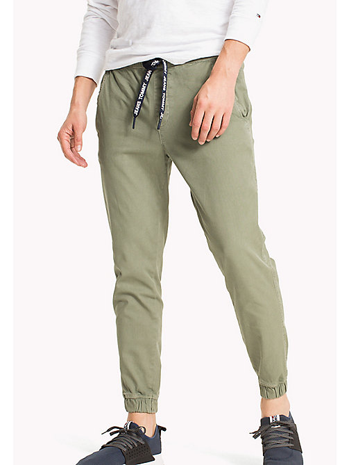 TOMMY JEANS Cotton Stretch Jog Chinos - DEEP LICHEN - TOMMY JEANS Clothing - main image