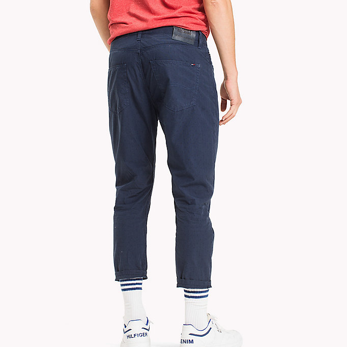 TOMMY JEANS Cotton Jacquard Cropped Trousers - VIOLET ICE - TOMMY JEANS Men - detail image 1