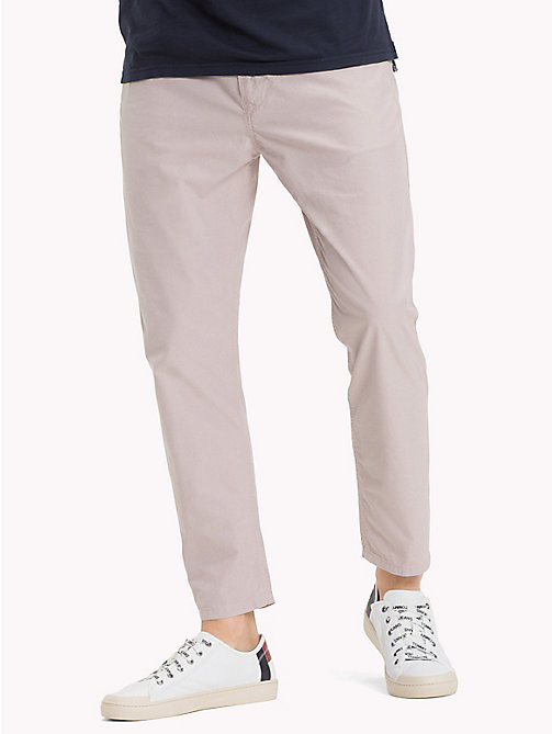 TOMMY JEANS Cotton Jacquard Cropped Trousers - VIOLET ICE - TOMMY JEANS Clothing - main image