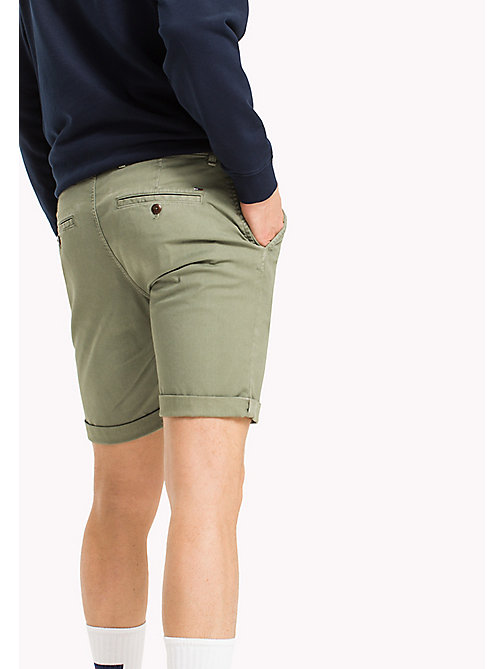 TOMMY JEANS Cotton Stretch Chino Shorts - DEEP LICHEN - TOMMY JEANS MEN - detail image 1