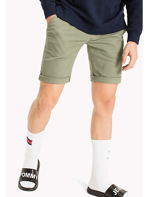 TOMMY JEANS Cotton Stretch Chino Shorts - DEEP LICHEN - TOMMY JEANS MEN - main image
