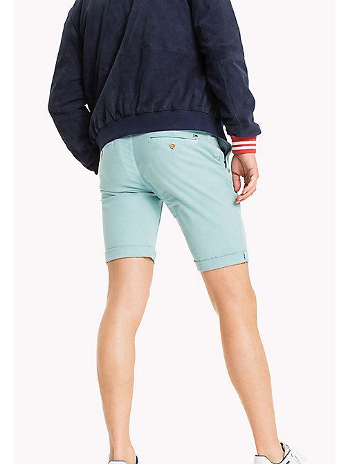 TOMMY JEANS Cotton Stretch Chino Shorts - MAUI BLUE - TOMMY JEANS MEN - detail image 1