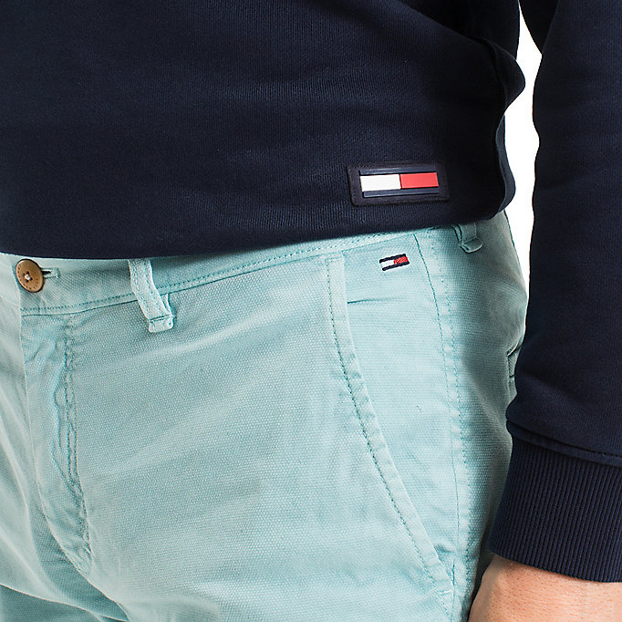 TOMMY JEANS Cotton Stretch Chino Shorts - BLACK IRIS - TOMMY JEANS Clothing - detail image 3
