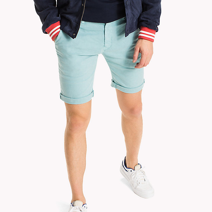 TOMMY JEANS Cotton Stretch Chino Shorts - BLACK IRIS - TOMMY JEANS Clothing - main image