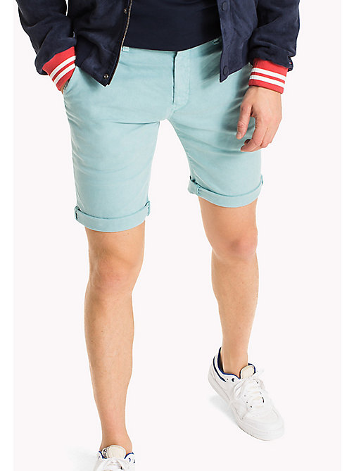 TOMMY JEANS Cotton Stretch Chino Shorts - MAUI BLUE - TOMMY JEANS MEN - main image
