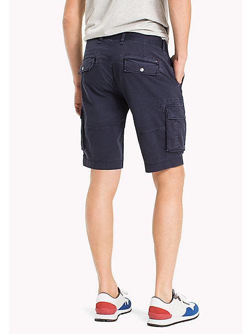 TOMMY JEANS Cotton Stretch Twill Cargo Shorts - BLACK IRIS - TOMMY JEANS Clothing - detail image 1