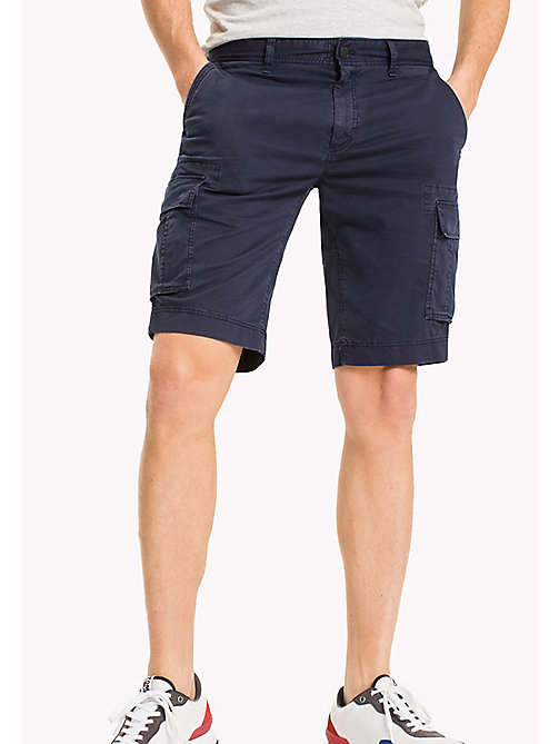 TOMMY JEANS Cotton Stretch Twill Cargo Shorts - BLACK IRIS - TOMMY JEANS Clothing - main image