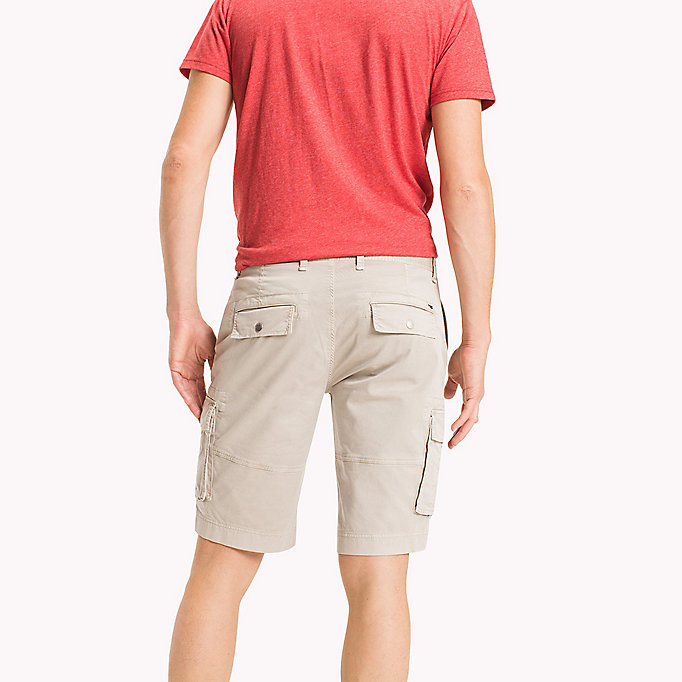 TOMMY JEANS Cotton Stretch Twill Cargo Shorts - BLACK IRIS - TOMMY JEANS Men - detail image 1