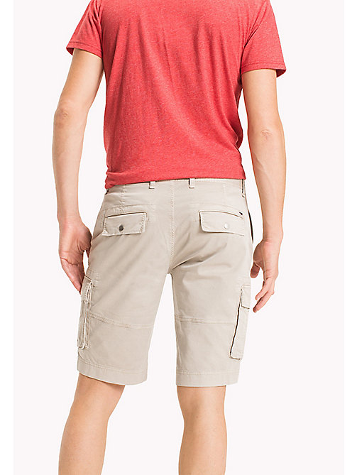 TOMMY JEANS Cotton Stretch Twill Cargo Shorts - PLAZA TAUPE - TOMMY JEANS Shorts - detail image 1