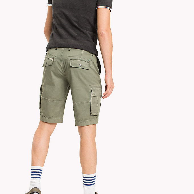 TOMMY JEANS Cotton Stretch Twill Cargo Shorts - PLAZA TAUPE - TOMMY JEANS Men - detail image 1