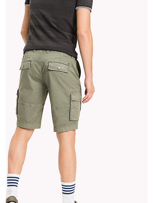 TOMMY JEANS Cotton Stretch Twill Cargo Shorts - DEEP LICHEN - TOMMY JEANS Trousers & Shorts - detail image 1