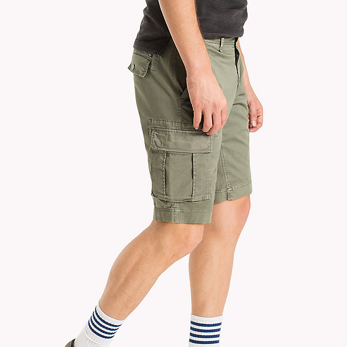 TOMMY JEANS Cotton Stretch Twill Cargo Shorts - PLAZA TAUPE - TOMMY JEANS Men - detail image 2