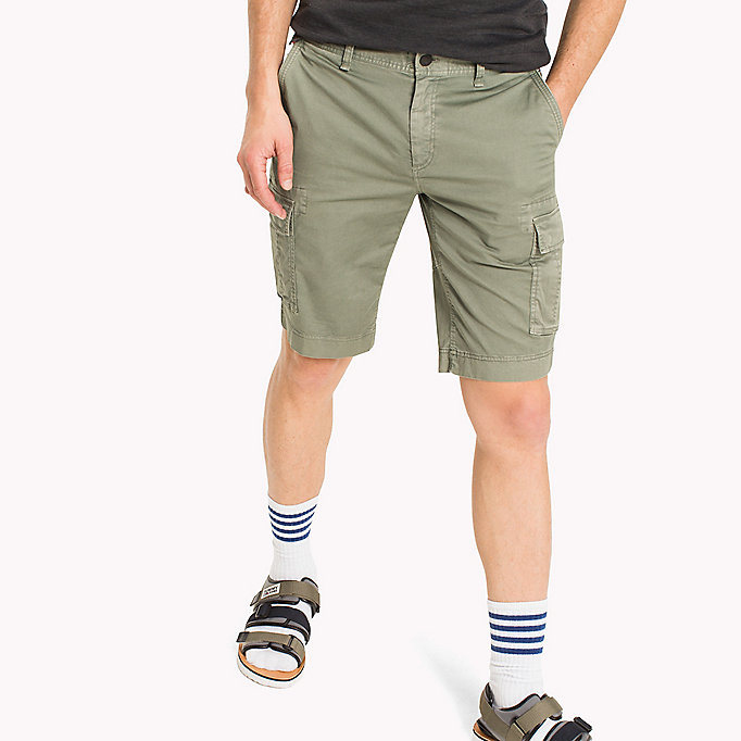 TOMMY JEANS Cotton Stretch Twill Cargo Shorts - PLAZA TAUPE - TOMMY JEANS Men - main image