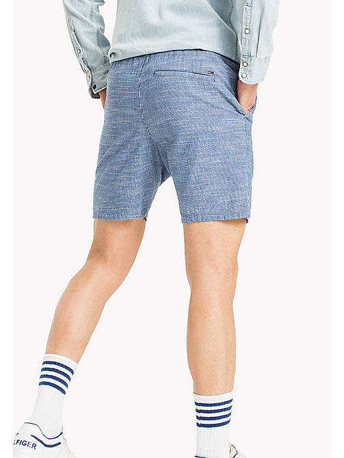 TOMMY JEANS Cotton Indigo Beach Shorts - MID INDIGO - TOMMY JEANS MEN - detail image 1