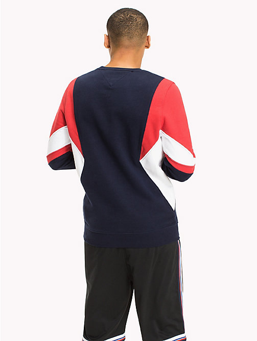 TOMMY JEANS Sweat colour block - RACING RED / MULTI -  HOMMES - image détaillée 1