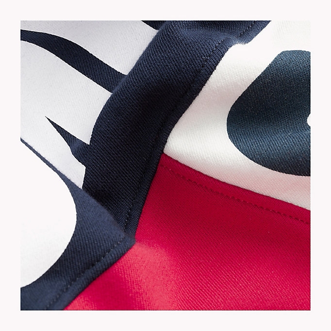TOMMY JEANS Colour-Blocked Funnel Neck Hoodie - DEEP LICHEN / MULTI - TOMMY JEANS Clothing - detail image 3