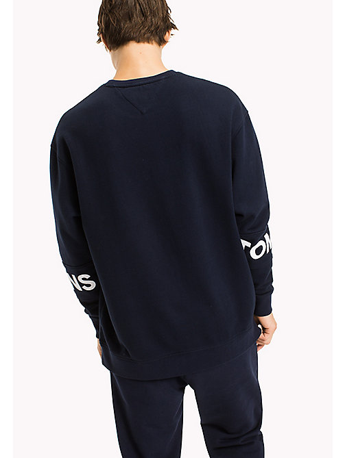 TOMMY JEANS Relaxed Fit Sweatshirt - BLACK IRIS -  MEN - detail image 1